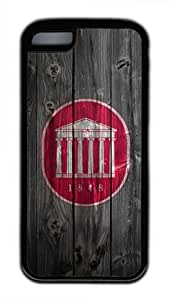 Customizablestyle Ole Miss Wood iPhone 5C TPU Black Rubber Shell Case by runtopwell