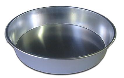 Molde para postres de aluminio, para bizcocho, redondo, 22 x 6 cm