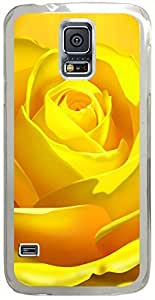 Yellow-Bloom Cases for Samsung Galaxy S5 I9600 with Transparent Skin