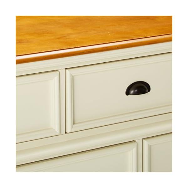 Oleta 9-Drawer Dresser with Bracket Feet Buttermilk and Brown