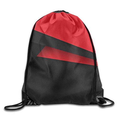 Dodge Challenger Costume (Red Black Line Beam Drawstring Travelling Bundle Pocket Canvas Storage Gym Bag Ball Backpack)