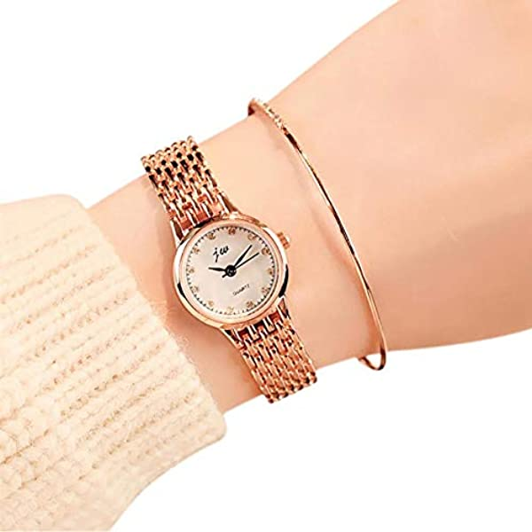 Amazon.com: Women Watches Quartz Analog Wrist Small Dial Stainless Steel Delicate Watch Luxury Watches Relogio Feminino 1: Jewelry