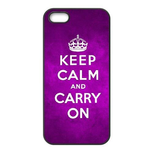 Keep Calm Carry On 004 coque iPhone 5 5S cellulaire cas coque de téléphone cas téléphone cellulaire noir couvercle EOKXLLNCD25208