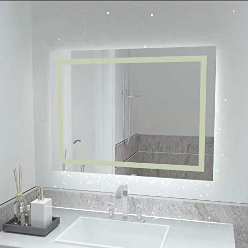 32 x 24 inch LED Bathroom Vanity Mirror, with Dimmer and Defogger Touch Switch by illucid