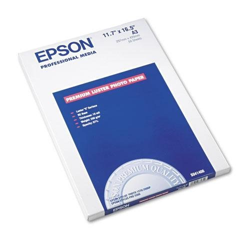 Epson Ultra Premium Photo Paper LUSTER (11.7x16.5 Inches, 50 Sheets) (S041406) (16.5 Inch Fine Art Paper)