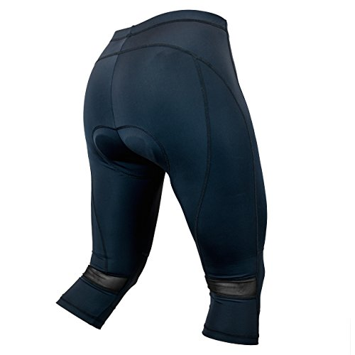 The Spinner - Women's 3D Padded Low-Rise Spinning/Cycling Capris with Mesh Vent (Large, ()