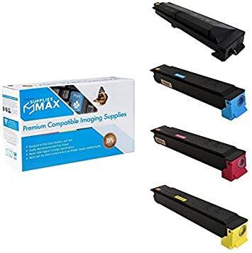 TK-51972B1CMY 2-BK//1-C//M//Y SuppliesMAX Compatible Replacement for Kyocera Mita TASKalfa 306ci//307ci Toner Cartridge Combo Pack
