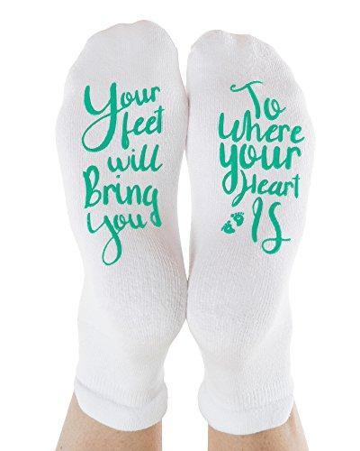 Kindred Bravely Labor and Delivery Inspirational Fun Non Skid Push Socks for Maternity -