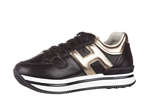 Hogan chaussures baskets sneakers filles en cuir neuves j222 sportivo xl h grand