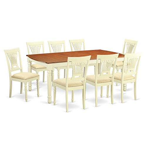 8 seat dining table amazon east west furniture dopl9 whi c 9 piece kitchen table and 8 dining room chairs set watchthetrailerfo