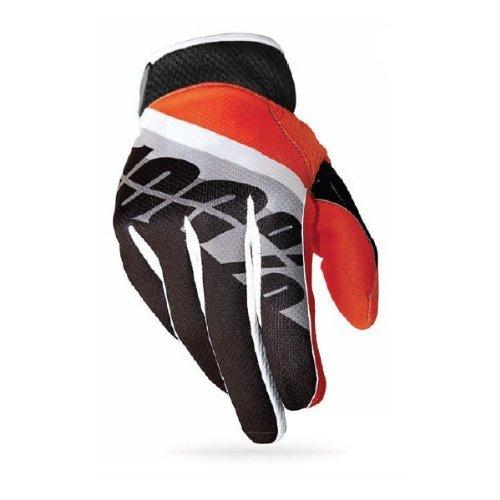 100% Ridefit Glove Slant Orange, XL - Men's by 100%