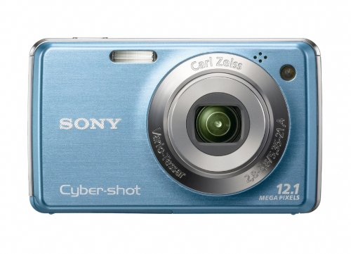 Sony Cybershot DSC-W220 12MP Digital Camera with 4x Optical Zoom with Super Steady Shot Image Stabilization (Light Blue) (OLD MODEL)