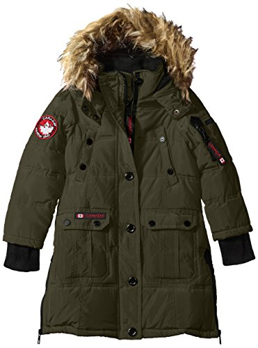 Jacket olive Outerwear More Hooded Gear Canada Styles Girls cw055 Stadium Weather Jacket Available O2CW055H IpnRnOzwxq