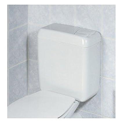 Geberit 128.305.11.1 - Cisterna vista baja 128, conexión lateral izquierda/derecha,