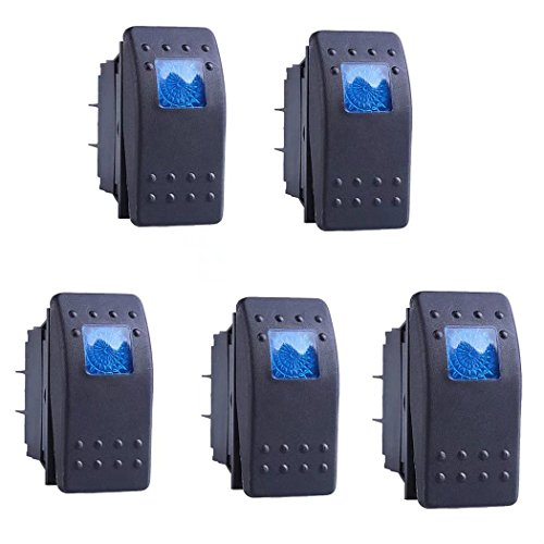 JahyShow Car Marine Blue LED Toggle Switch Dash 4pin Pack of (Big Toggle)