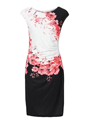 Bodycon Party Work Women Sexy Patterned Red Sleeveless Dress Tunic Coolred wY0IqI