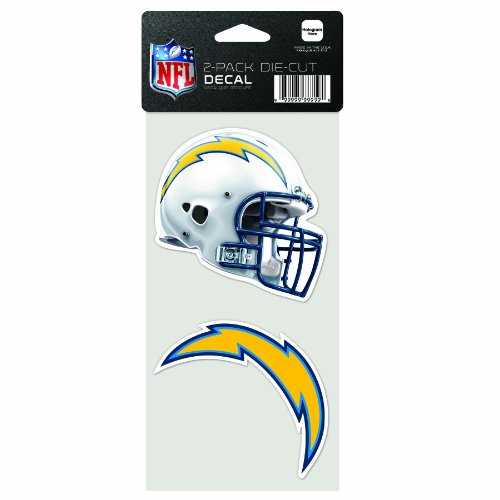 - NFL San Diego Chargers 2-Piece Die-Cut Decal, 4