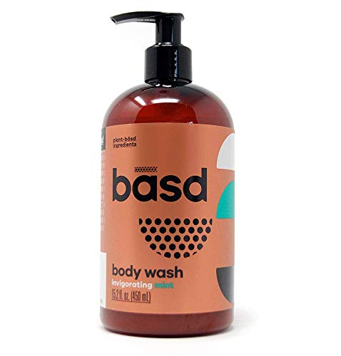 Basd | Organic Moisturizing Body Wash | Invigorating Mint | Natural Skin Care | Aloe Vera | Green Tea | 15.2 oz ()