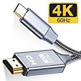 USB C to HDMI Cable(4K@60Hz)(6FT/2m), Dreamsea USB Type-C to HDMI Cable [Thunderbolt 3 Compatible] MacBook Pro, iMac, Surface Book 2, Samsung Galaxy Note 9/S9/S8/Note 8, Pixelbook - Grey