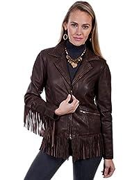 Western Jacket Womens Fringe Leather Zip Closure L221