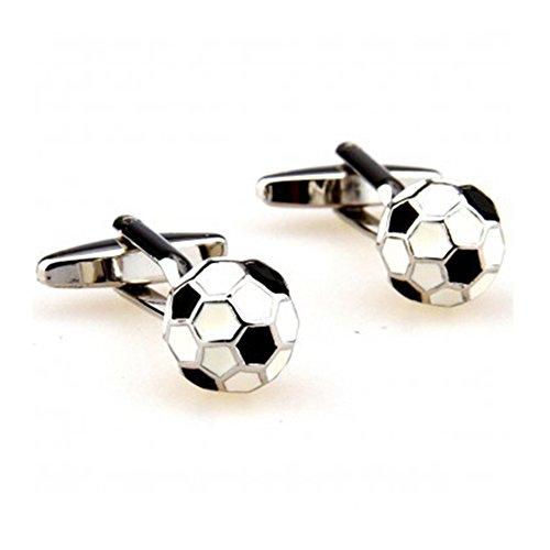 Demarkt Men Cuff Links,Football Soccer Ball Cufflinks for Football Players Shirt Cuff Buttons Men Jewelry - Male Soccer Player Charm