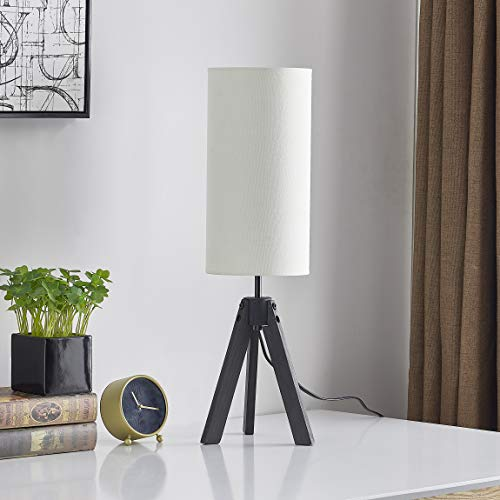 LeeZM Modern Wooden Tripod Base Bedside Table Lamp, used for sale  Delivered anywhere in USA