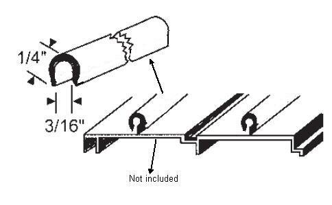 Lower Track for Sliding Screen Doors, Snap-In, Stainless Steel - 6 ft (Stainless Steel Lower Track)