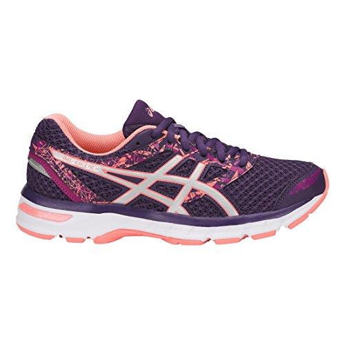 ASICS Womens Gel-Excite 4 Running Shoe, Grape/Silver/Begonia Pink, Size 5.5