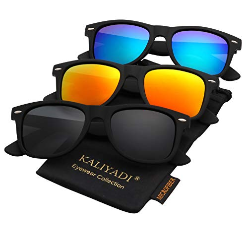 Polarized Sunglasses for Men and Women Matte Finish Sun glasses Color Mirror Lens 100% UV Blocking