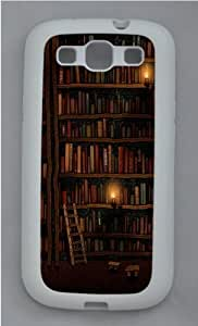 Bookshelves Custom Samsung Galaxy S3 Case Cover - TPU Silicone - White