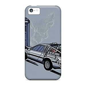 CasePete for iphone 5/5s iphone 5/5s Premium Tpu Tardis Back To The Future Doctor Who Crossovers Protective Case