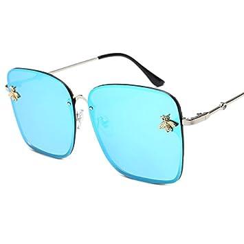 GGFTX Gafas de Sol de Moda Antigua Plaza Abeja Lentes,Azul ...