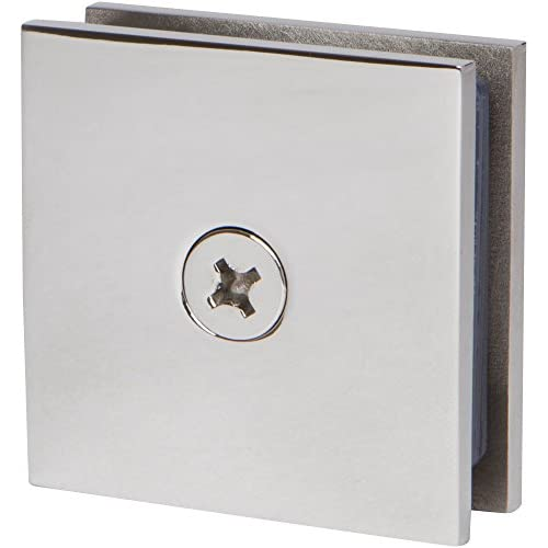 30%OFF Square Wall Mount Glass Clamp in Polished Chrome Finish, 2 inch x 2 inch Durable commercial & residential, shower door hardware, wall to glass clamp,