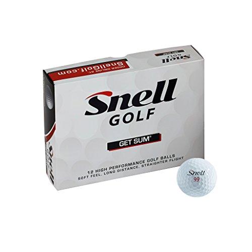 Snell Golf Get Sum Golf Balls1-Dozen Yellow