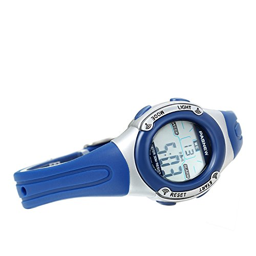 Amazon.com: Avaner Cool Waterproof Led Electronic Digital Sport Watches with Blue Rubber Strap Alarm Chronograph Stopwatch Multi Function for Children Boys ...