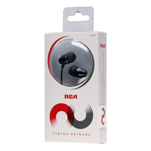 RCA HP159BK Noise-Isolating In-Ear Earbuds 10mm Neodymium Drivers - Neodymium Bulbs