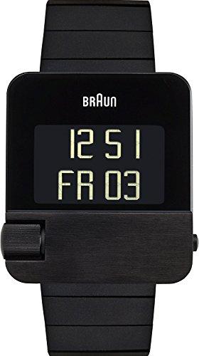 Braun Men's BN0106BKBTG Prestige Digital Digital Display Swiss Quartz Black Watch