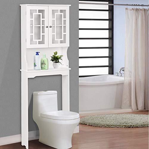 BestComfort Wooden Over The Toilet Cabinet Storage, BathroomOrganizerOverToiletStorage, Above The Toilet Space Saver Cabinet (23.5