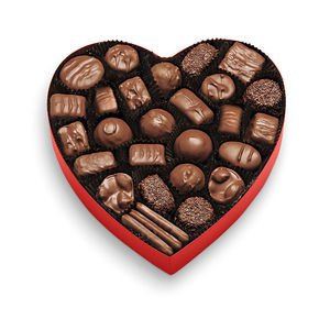 See's Candies 1lb Milk Chocolate Heart Aged Chocolate Candy
