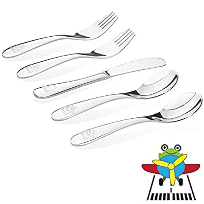 Kiddobloom Kids Stainless Steel Utensils or Flatware set
