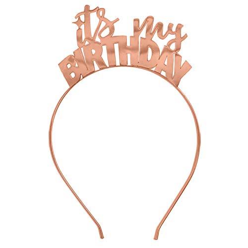 Rose Gold It's My Birthday Tiara Headband -