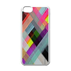 Colorful Stripes Design DIY Cover Case for Iphone 5C,personalized phone case ygtg602584