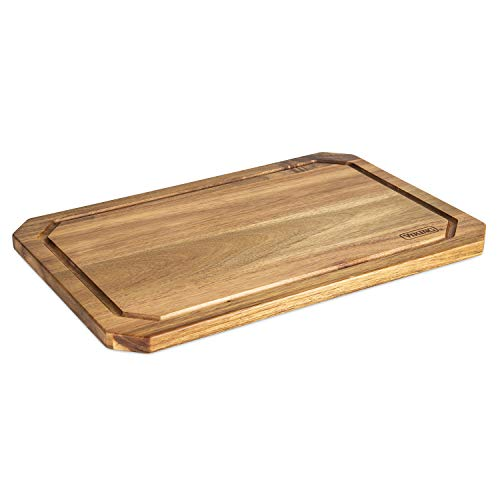Viking Culinary 40475-4718C Acacia Wood with Juice Groove Cutting Board, 18