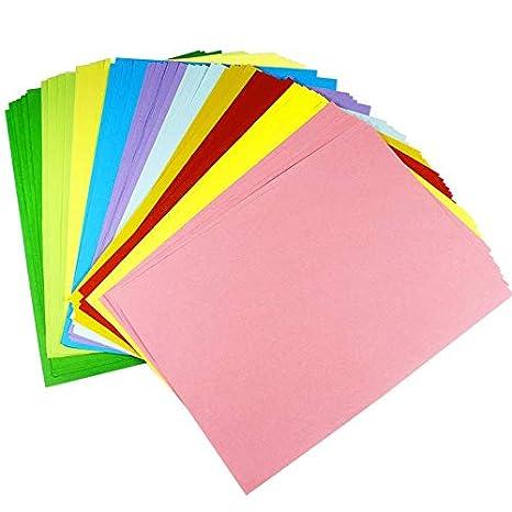 Dokpav 10 Couleurs Papier Multiusage Origami Papier 100 Feuilles