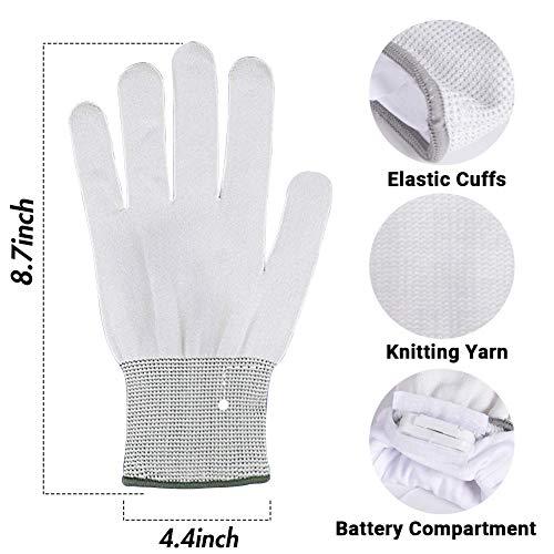 LED Gloves, Led Skeleton Gloves Light Up LED Flashing Skeleton Hand Gloves, 3 Colors 6 Modes
