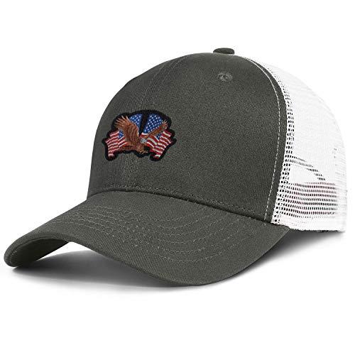 Bald Eagle American Flag 5 Vintage Running Mesh Snapback Hats Teenager