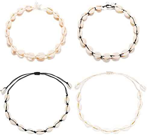 aliveGOT Single Pearl Leather Choker Necklace for Women Handmade Choker Jewelry Gift