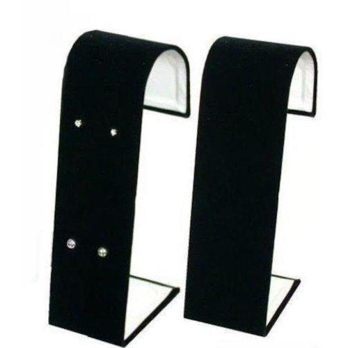 FindingKing 2 Stud Earring Displays Black Velvet Showcase Parts