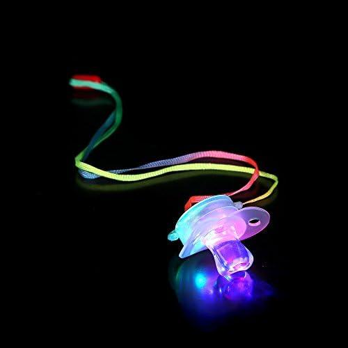 Flashing Pacifiers ~ Multi Color LED Glow Lights wholesale 2 dozen 24