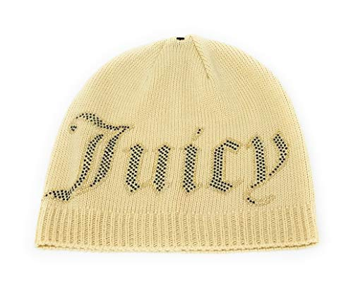 Juicy Couture Jersey Knit Beanie (Beige) - Juicy Couture Designer Hats